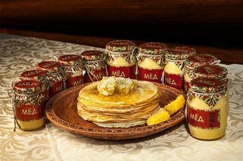 Мёд цветочный разнотравие, стекло 250 грамм