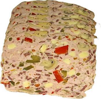 Мясной хлеб «Пицца»