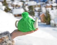 К зеленому чаю – по снегу